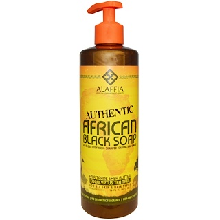 Alaffia, Authentic African Black Soap, Eucalyptus Tea Tree, 16 fl oz (475 ml)