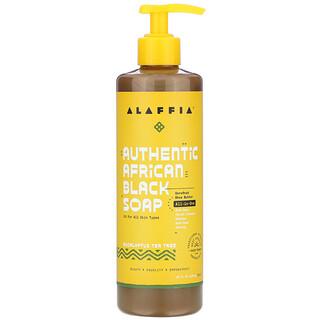 Alaffia, 正宗非洲黑皂,桉树茶树香,16 液量盎司(476 毫升)