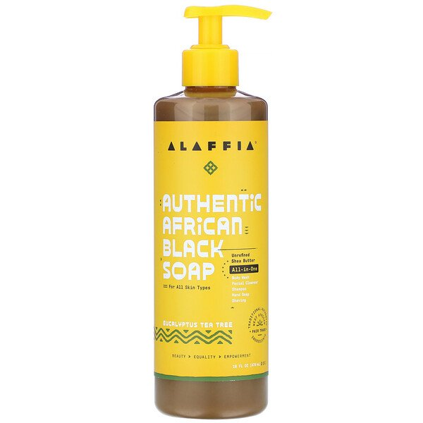 Alaffia, Authentic African Black Soap, Eucalyptus Tea Tree, 16 fl oz (476 ml)