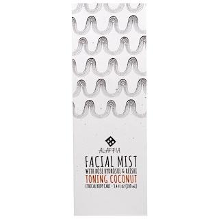 Alaffia, Facial Mist, Toning Coconut, 3.4 fl oz (100 ml)
