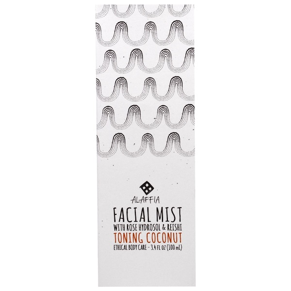 Alaffia, Facial Mist, Toning Coconut, 3.4 fl oz (100 ml) (Discontinued Item)