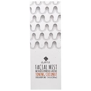 Алаффия, Facial Mist, Toning Coconut, 3.4 fl oz (100 ml) отзывы