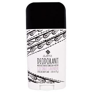 Alaffia, Deodorant, Coconut Lavender, 2.65 oz (75 g)