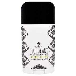 Alaffia, Deodorant, Coconut Vetiver, 2.65 oz (75 g)