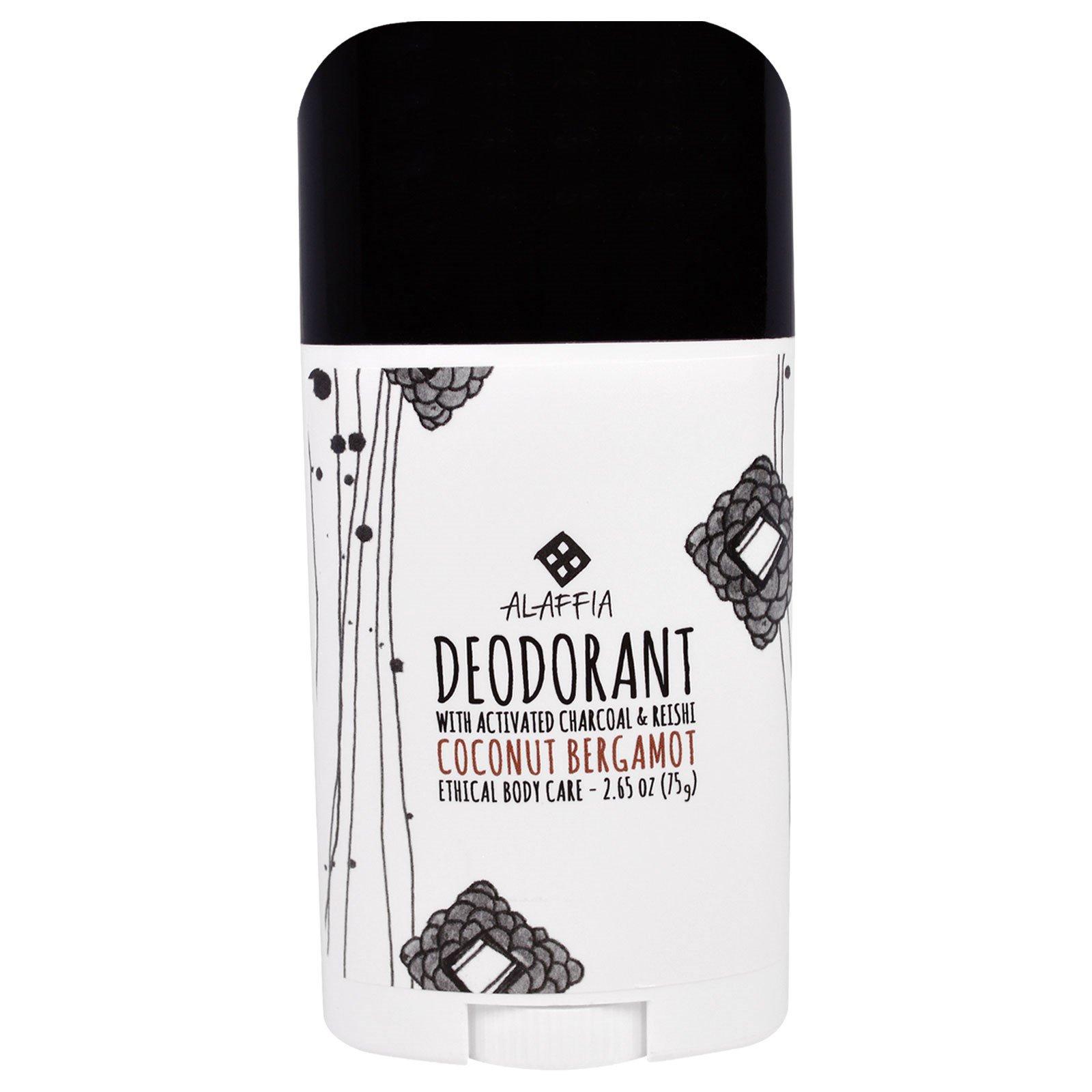 Alaffia, Дезодорант, Кокосовый Бергамот, 2,65 унции (75 г)