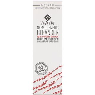 Alaffia, Neem Tumeric Cleanser with Yarrow & Moringa, 3.4 fl oz (100 ml)