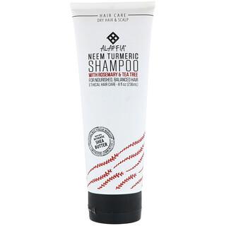 Alaffia, Neem Turmeric, Shampoo, Rosemary & Tea Tree, 8 fl oz (236 ml)