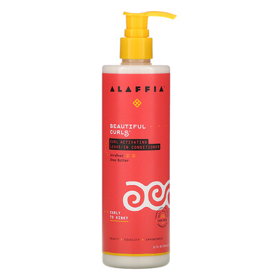 Alaffia Beautiful Curls, Curl Activating Leave-In Conditioner, Curly to Kinky, Unrefined Shea Butter, 12 fl oz (354 ml)