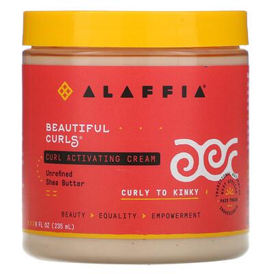 Alaffia Beautiful Curls, Curl Activating Cream, Curly to Kinky, Unrefined Shea Butter, 8 fl oz (235 ml)