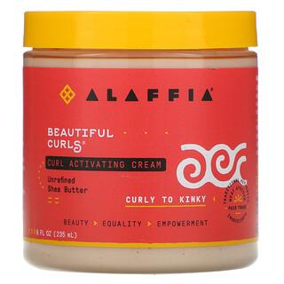 Alaffia, Beautiful Curls, Curl Activating Cream, Curly to Kinky, Unrefined Shea Butter, 8 fl oz (235 ml)