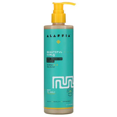 Alaffia Beautiful Curls, Curl Enhancing Shampoo, Wavy to Curly, Unrefined Shea Butter, 12 fl oz (354 ml)