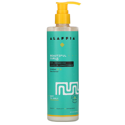 Alaffia Beautiful Curls, Curl Enhancing Leave-In Conditioner, Wavy to Curly, Unrefined Shea Butter, 12 fl oz (354 ml)