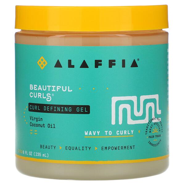 Beautiful Curls, Curl Defining Gel, Wavy to Curly, Virgin Coconut Oil, 8 fl oz (235 ml)