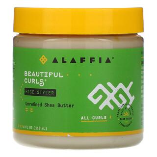 Alaffia, Beautiful Curls, Edge Styler, All Curls, Unrefined Shea Butter, 4 fl oz (118 ml)