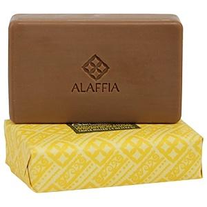 Alaffia, Африканское черное мыло тройного размола, Лемонграсс и цитрус, 5 унций (142 г)