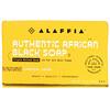 Alaffia, 正宗非洲黑皂三重研磨香皂,竹炭靈芝味,5 盎司(140 克)