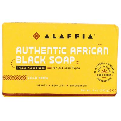 Купить Alaffia Authentic African Black Soap, Triple Milled Soap, Cold Brew, 5 oz (140 g)