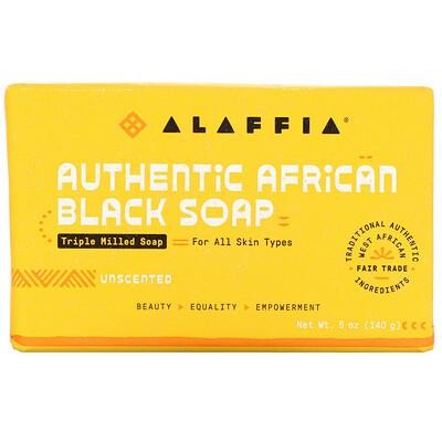 Купить Alaffia Authentic African Black Soap Triple Milled Soap, Unscented, 5 oz (140 g)