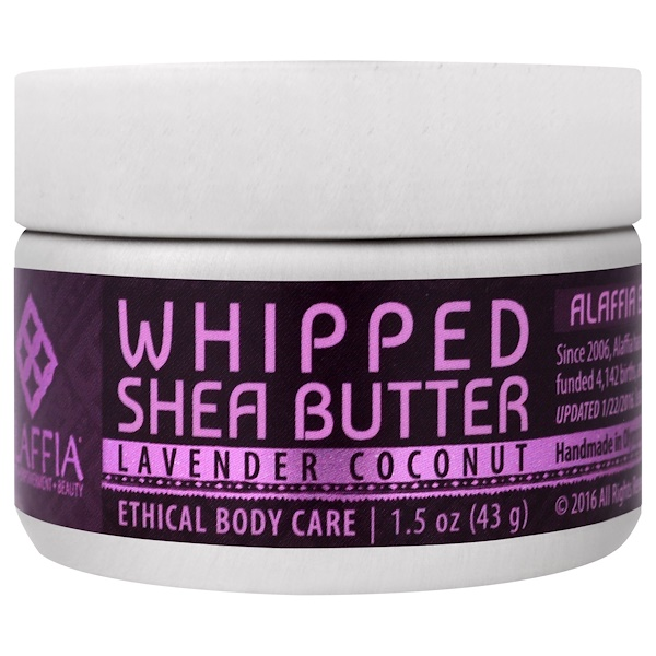 Alaffia, Whipped Shea Butter, Lavender Coconut, 1.5 oz (43 g) (Discontinued Item)