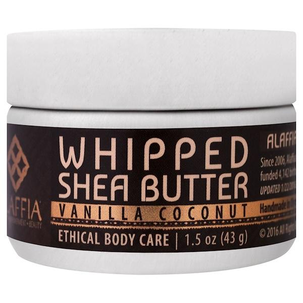 Alaffia, Whipped Shea Butter, Vanilla Coconut, 1.5 oz (43 g) (Discontinued Item)