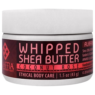 Alaffia, Whipped Shea Butter, Coconut Rose, 1.5 oz (43 g)
