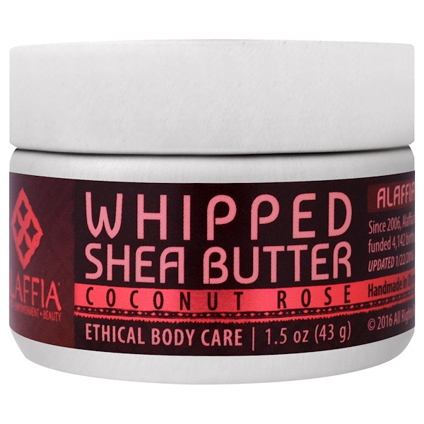 Alaffia, Whipped Shea Butter, Coconut Rose, 1.5 oz (43 g) (Discontinued Item)