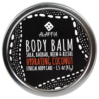 Alaffia, Body Balm, Hydrating Coconut, 1.5 oz (43 g)