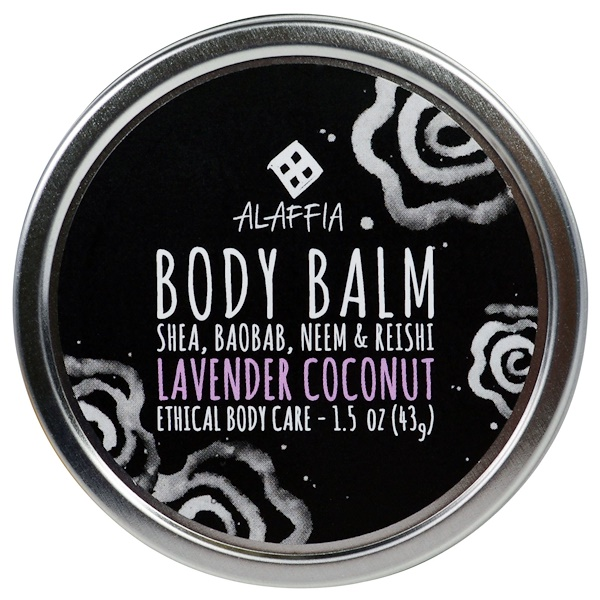 Alaffia, Body Balm, Lavender Coconut, 1.5 oz (43 g) (Discontinued Item)