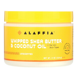 Алаффия, Whipped Shea Butter & Coconut Oil, Unscented, 4 oz (114 g) отзывы