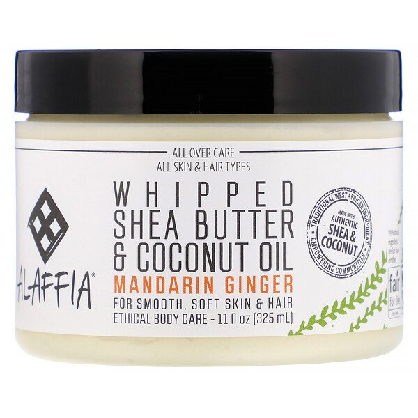 Whipped Shea Butter & Coconut Oil, Mandarin Ginger, 11 fl oz (325 ml)