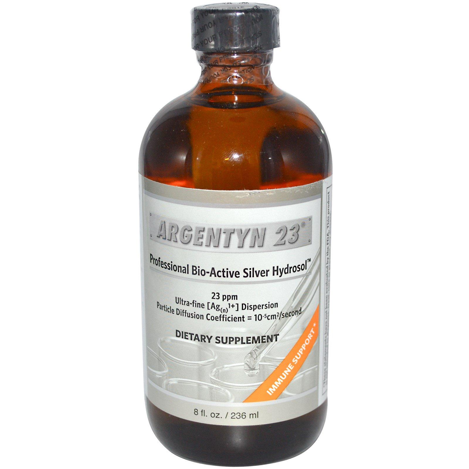 Allergy Research Group, Argentyn 23, Профессиональный био-активный серебряный гидрозоль, 8 жидких унций (236 мл)