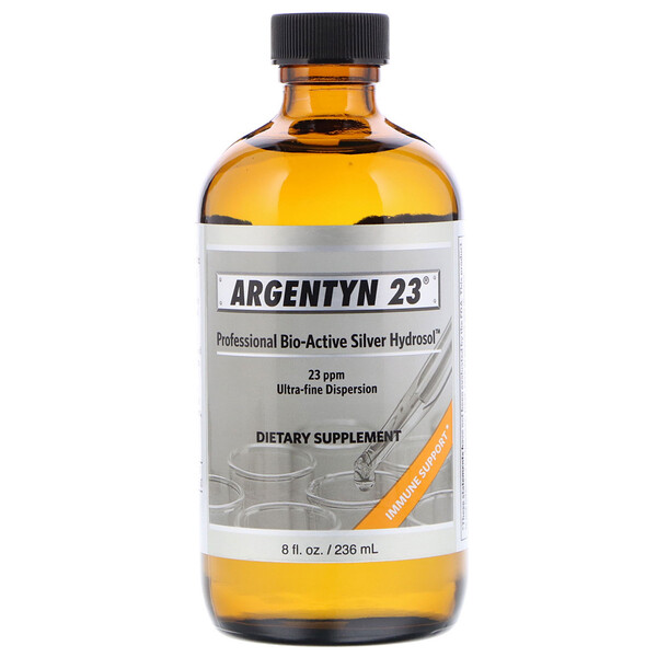 Sovereign Silver, Argentyn 23, Professional Bio-Active Silver Hydrosol, 8 fl oz (236 ml)