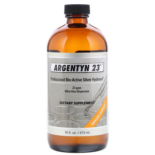 Sovereign Silver, Argentyn 23  Professional Bio-Active Silver Hydrosol, 16 fl oz (473 ml)