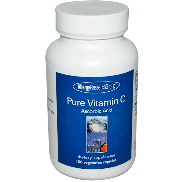 Allergy Research Group, Pure Vitamin C,  100 Veggie Caps (Discontinued Item)