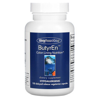 Allergy Research Group, ButyrEn, 100 Delayed-Release Vegetarian Capsules