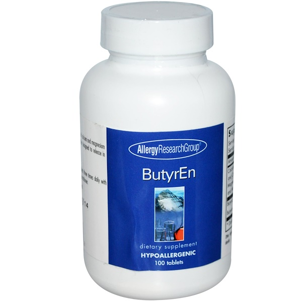 Allergy Research Group, ButyrEn, Масляная кислота 100 таблеток