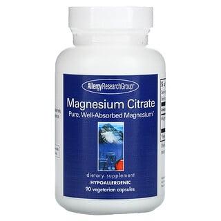Allergy Research Group, Citrato de magnesio, 90cápsulas vegetales