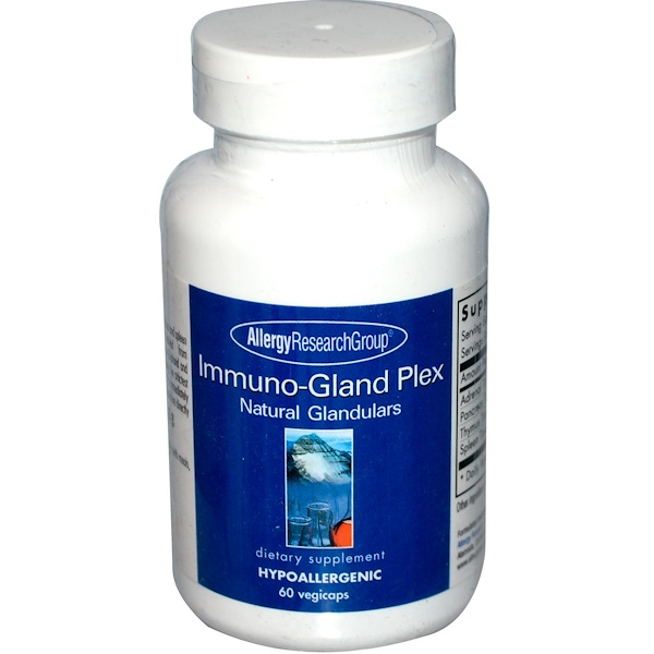 Allergy Research Group, Immuno-Gland Plex, Натурльные железы, 60 растительных капсул (Discontinued Item)