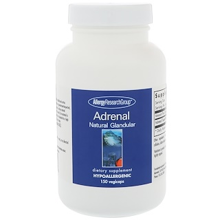 Allergy Research Group, Adrenal Natural Glandular, 150 Vegicaps