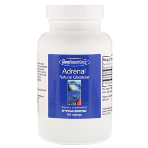Эллерджи Ресёрч Груп, Adrenal Natural Glandular, 150 Vegicaps отзывы