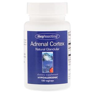 Эллерджи Ресёрч Груп, Adrenal Cortex Natural Glandular, 100 Vegicaps отзывы