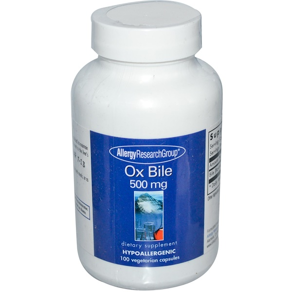 Allergy Research Group, オックスバイル、 500 mg、 100植物性カプセル