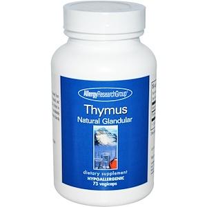 Эллерджи Ресёрч Груп, Thymus, Natural Glandular, 75 Veggie Caps отзывы