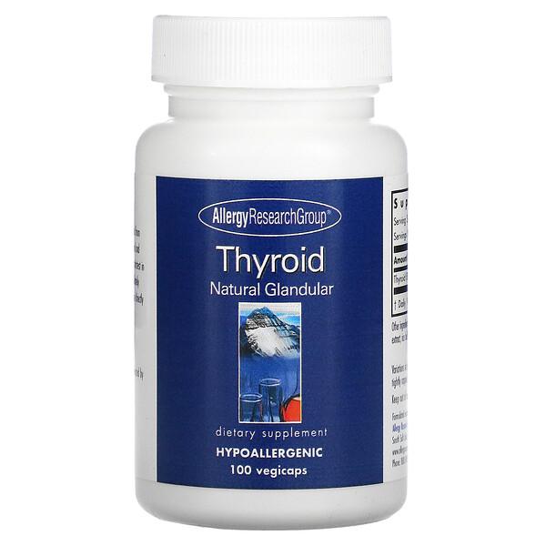 Thyroid, Natural Glandular, 100 Vegicaps