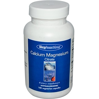 Allergy Research Group, Calcium Magnesium Citrate, 100 Veggie Caps
