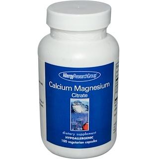 Allergy Research Group, Calcium Magnesium Citrate, 100 Veggie Caps