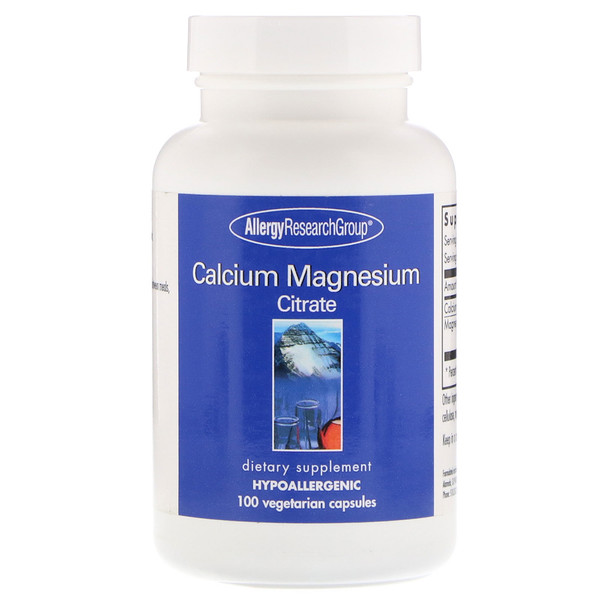 Allergy Research Group, Calcium Magnesium Citrate, 100 Vegetarian Capsules (Discontinued Item)
