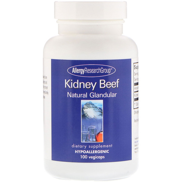 Kidney Beef, Natural Glandular, 100 Vegicaps