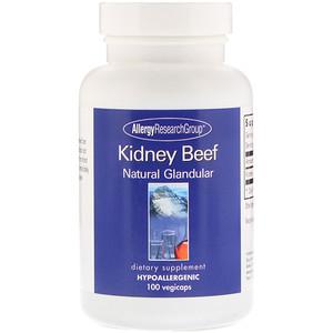Эллерджи Ресёрч Груп, Kidney Beef, Natural Glandular, 100 Vegicaps отзывы