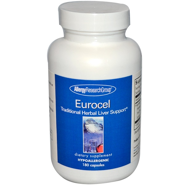 Allergy Research Group, Eurocel, Traditional Herbal Liver Support, 180 Capsules (Discontinued Item)